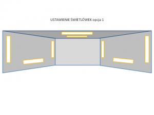 Oświetlenie w garażowej lakierni