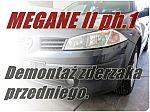 Demontaż zderzaka Megane II