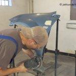 Ford Fiesta MK6 cz.5 – Przygotowanie do lakierowania używanego błotnika