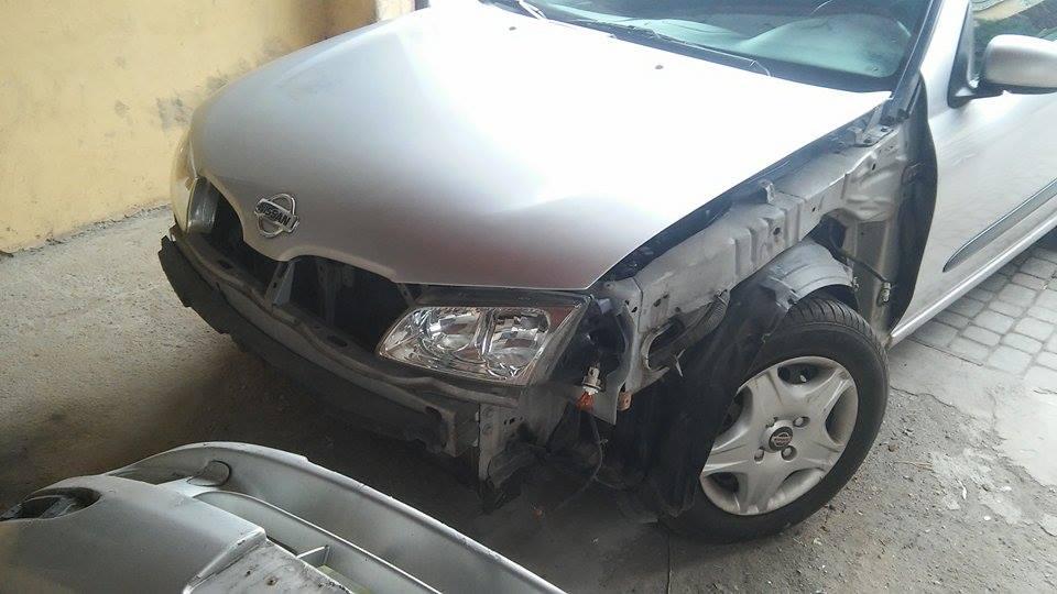 Nissan Almera lakierowanie błotnika, zderzaka + zaprawki