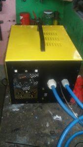 Spotter blacharski z transformatora od mikrofalówki DIY