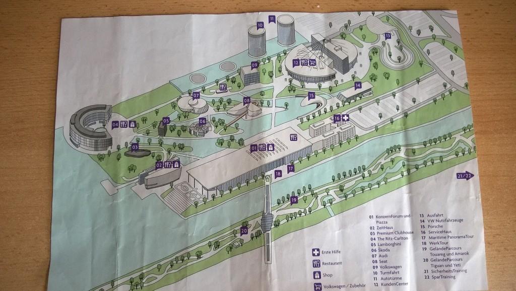 Wolfsburg mapa