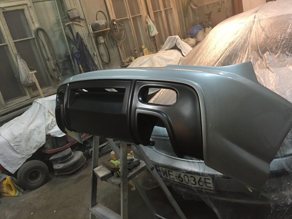 Zderzak Hyundai Coupe - lakierowanie dwa kolory