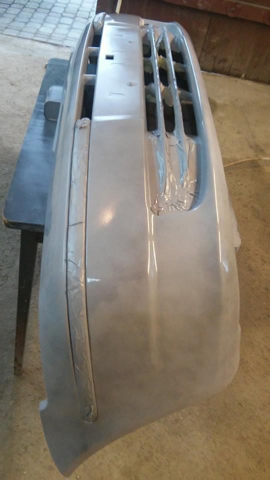 Lakierowanie zderzaka (chiński zamiennik) Fiat albea
