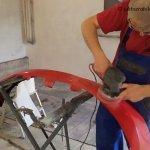 Jak naprawić pęknięty zderzak - pęknięcia lakieru
