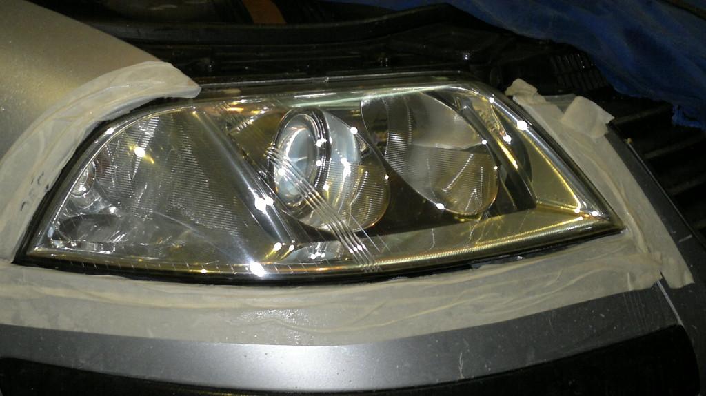 Polerowanie lamp Passat B5 FL