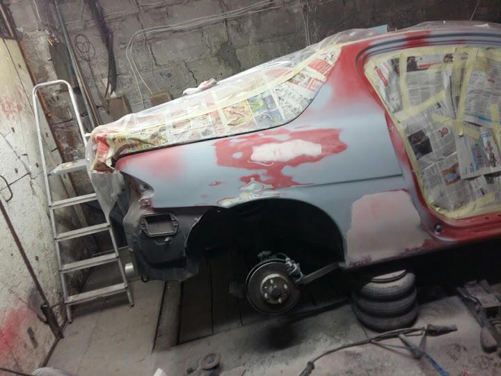 Naprawa blacharska oraz lakierowanie Mazda MX3
