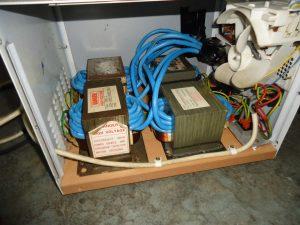 Spotter z transformatorów od mikrofalówki DIY
